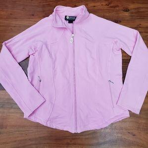 Christine Alexander Cotton Blend Full Zip Jacket